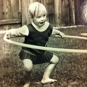 Me at our first home in Santa Barbara 1969ish